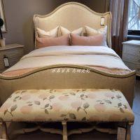 美克art家具美家夏图耳翼床 美式复古雕花床组合 法式定制