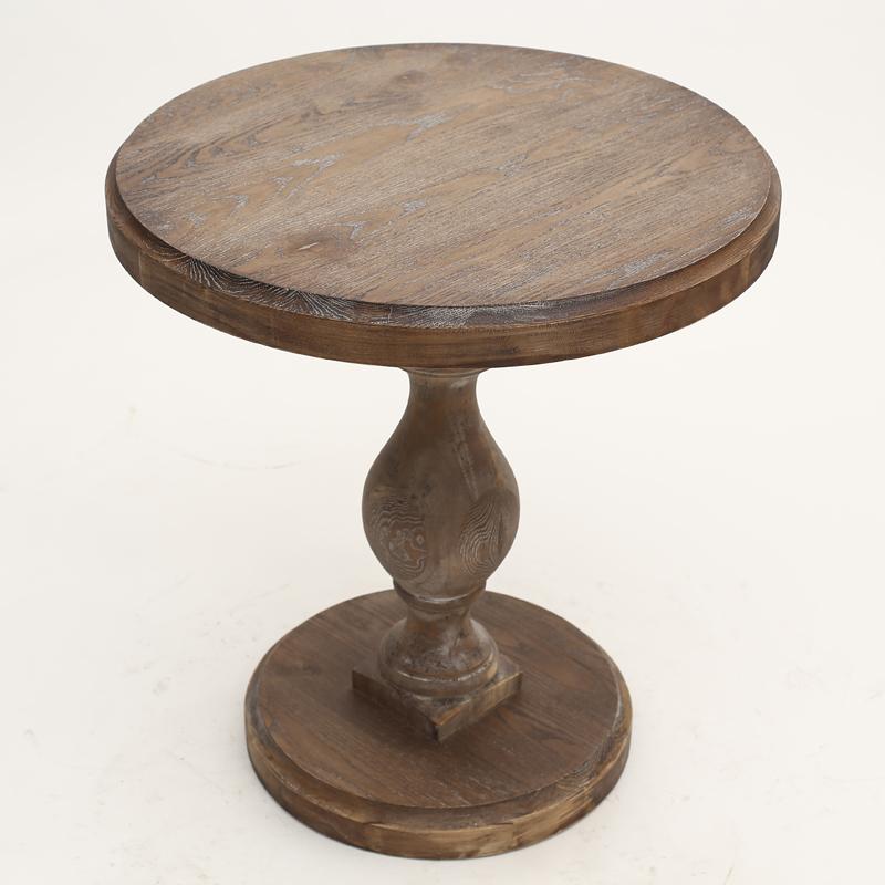 实木餐桌美式法式复古做旧实木餐桌椅客厅家具桌欧式方桌圆桌仿古