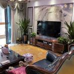睿驰 Tab美式纯实木电视柜 复古做旧六抽客厅地柜复古成套家具
