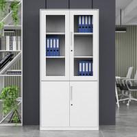 金经金属薄边文件柜办公文件柜铁皮对开矮柜现代简约钢制主管柜
