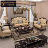 欧式沙发真皮123组合客厅沙发高档奢华套装全屋豪华别墅实木家具