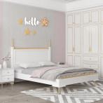 吉第儿童床现代北欧实木女孩床家具组合少女梦幻1.5米欧式儿童床