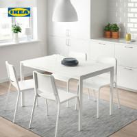 IKEA宜家TEODORES帝奥多斯椅子现代简约白色餐厅桌椅家用餐椅