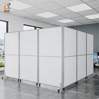 定制办公室移动高隔断可活动折叠屏风活动屏风门工厂车间挡板墙